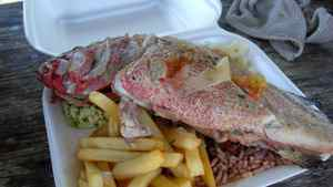 Cheap, tasty grilled fish is available from Anguilla's roadside food trucks.