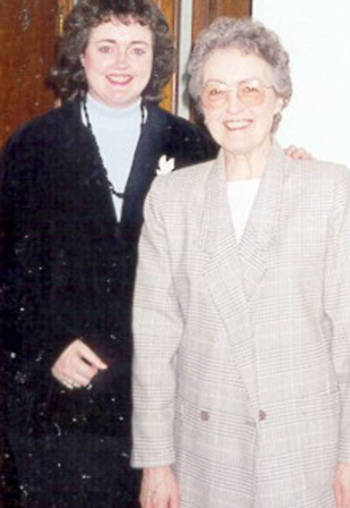 That's Mom and me just before my college graduation ceremony in 1999. As a mature student in computer studies, I was often overwhelmed by the work demands. But Mom's steady pep talks kept me on track!