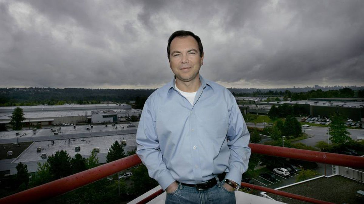 Canpages CEO Olivier Vincent outside his Burnaby office.