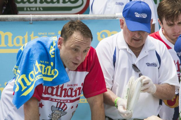 Joey Chestnut Sets Hot Dog Eating Contest Record Downing 74