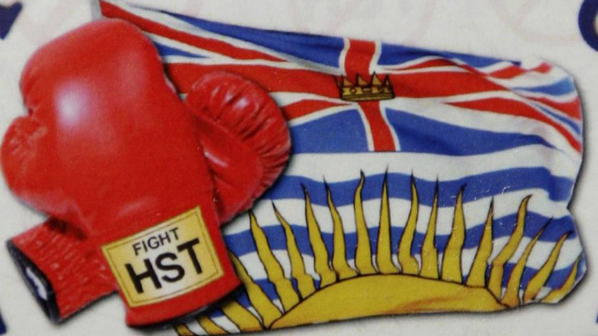 Fight HST pin. Lyle Stafford for the Globe and Mail
