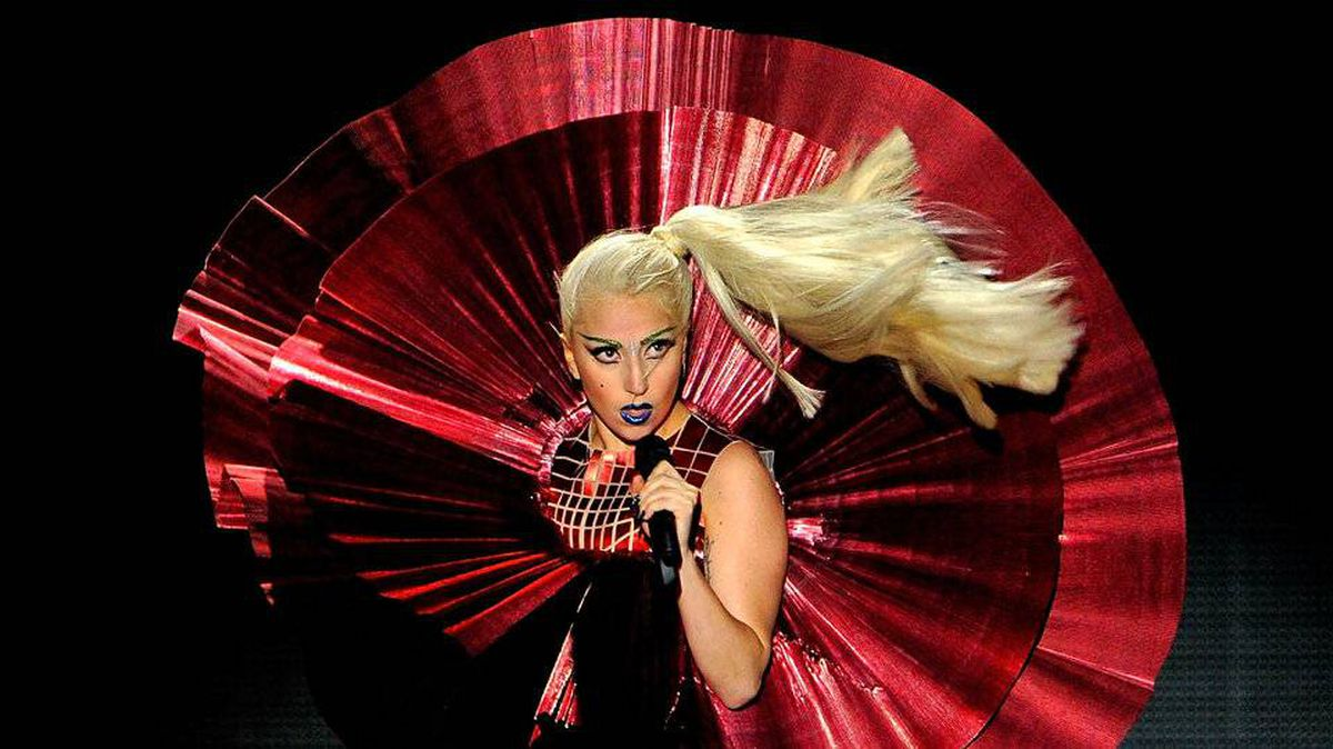 Singer Lady Gaga performs onstage during the MTV Europe Music Awards.