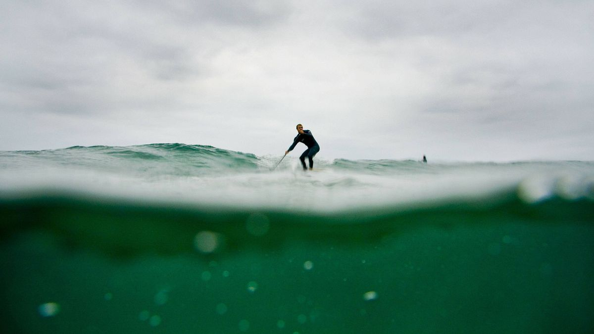 Paddleboarding at Big Sur, Calif.