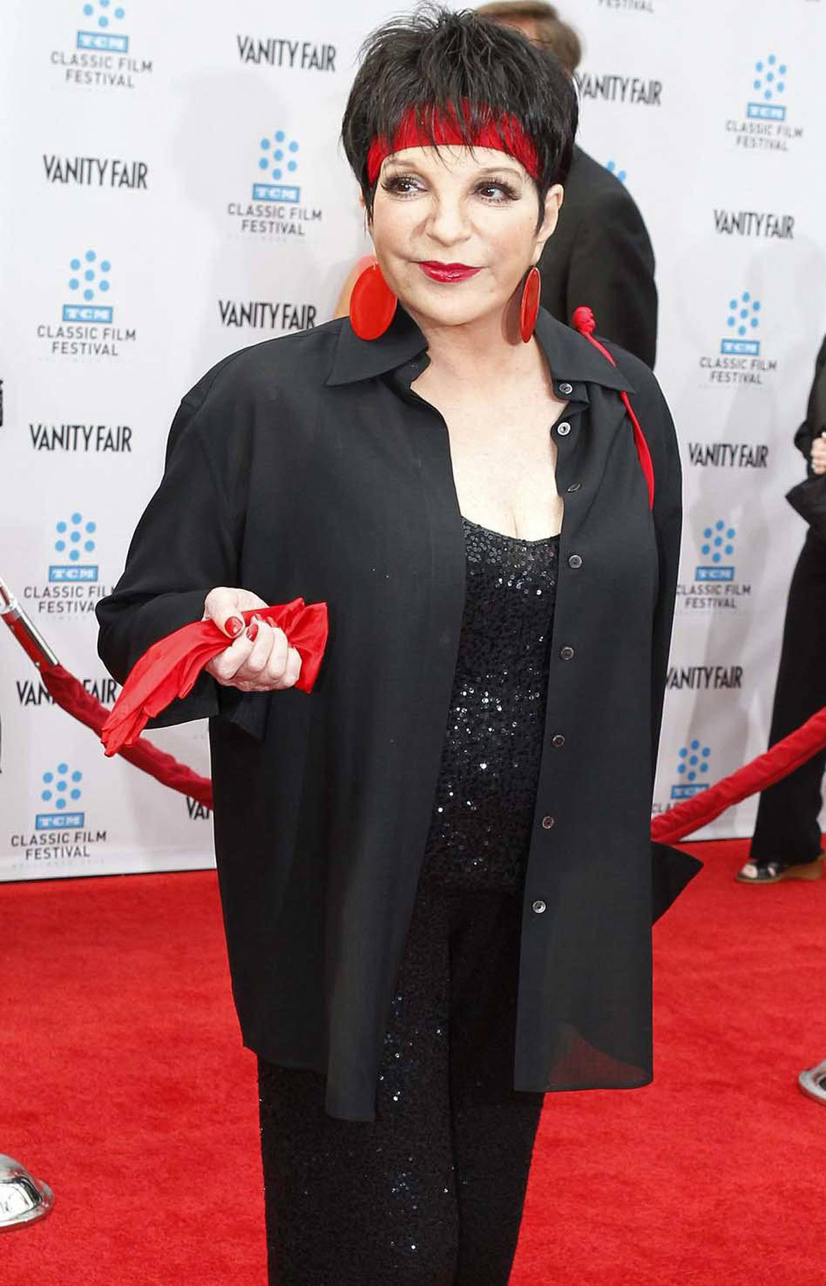 """No. 2: Liza Minnelli at the world premiere of the 40th anniversary restoration of the film """"Cabaret"""" in Hollywood last week. [Answer: hologram]"""