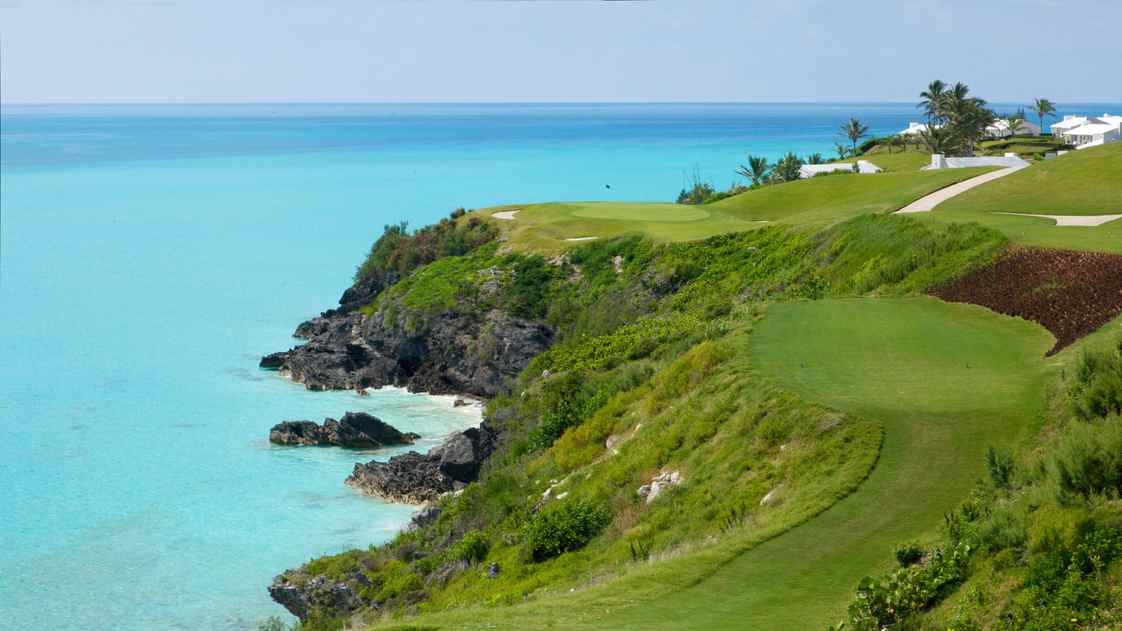 The new tee on the 16th hole of Bermuda's Port Royal Golfcourse is challenging many golfers this year.