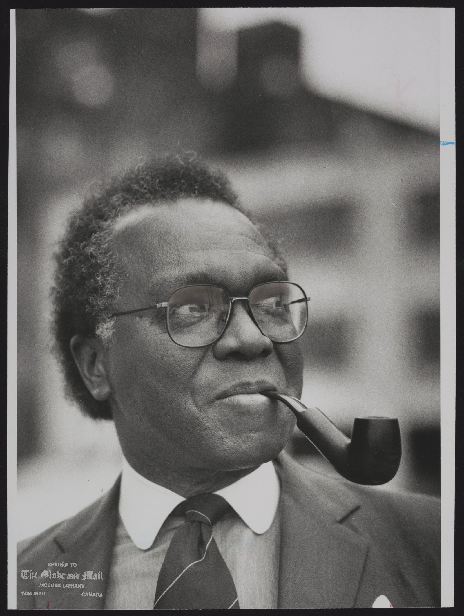 The notes transcribed from the back of this photograph are as follows: Austin CLARKE Canada. Author