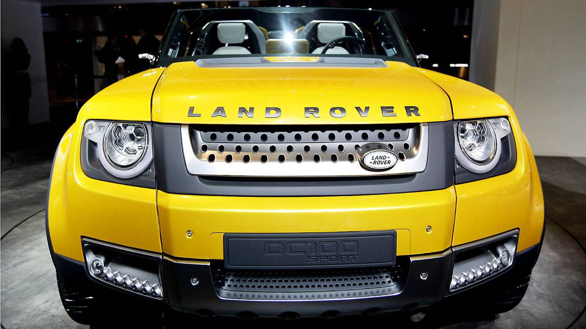 A concept version of Land Rover's defender is seen at the Jaguar-Land Rover exhibition booth during the International Motor Show (IAA) in Frankfurt, September 13, 2011.