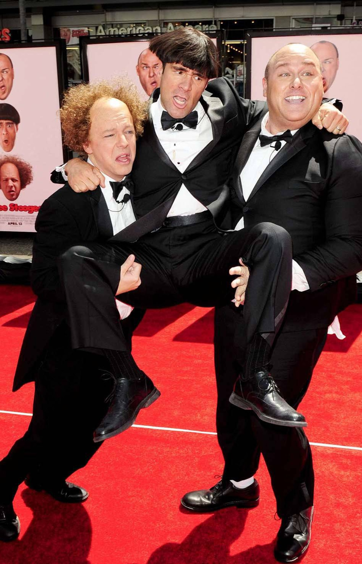 """Meanwhile, Hollywood honoured the sacrifice of the Lamb of God by resurrecting the Three Stooges franchise. Actors Sean Hayes (Larry), Chris Diamantopoulos (Moe) and Will Sasso (Curly) arrive in character at the Hollywood premiere of """"The Three Stooges: The Movie"""" last week."""