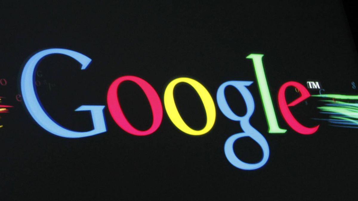 "The Google Inc logo is projected on a screen during the unveiling of ""Google Instant"" at a news conference in San Francisco, California September 8, 2010."