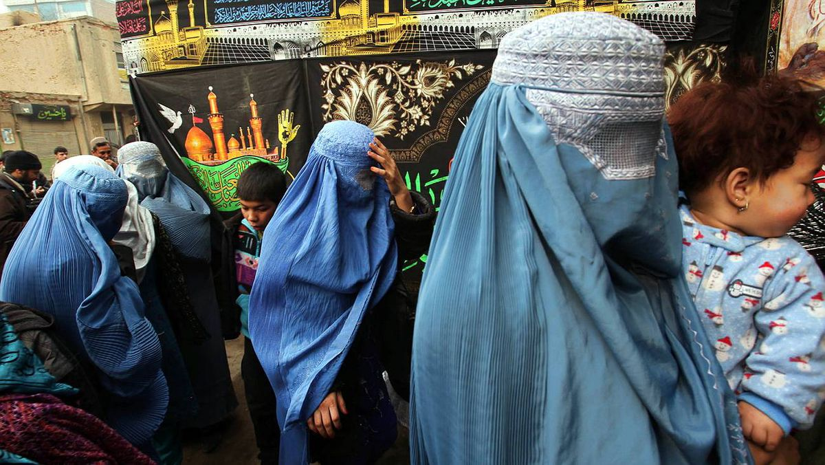 Afghan Shiite Muslim women pray during Ashura at a Shiite mosque on Dec. 27, 2009 in Kabul, Afghanistan.