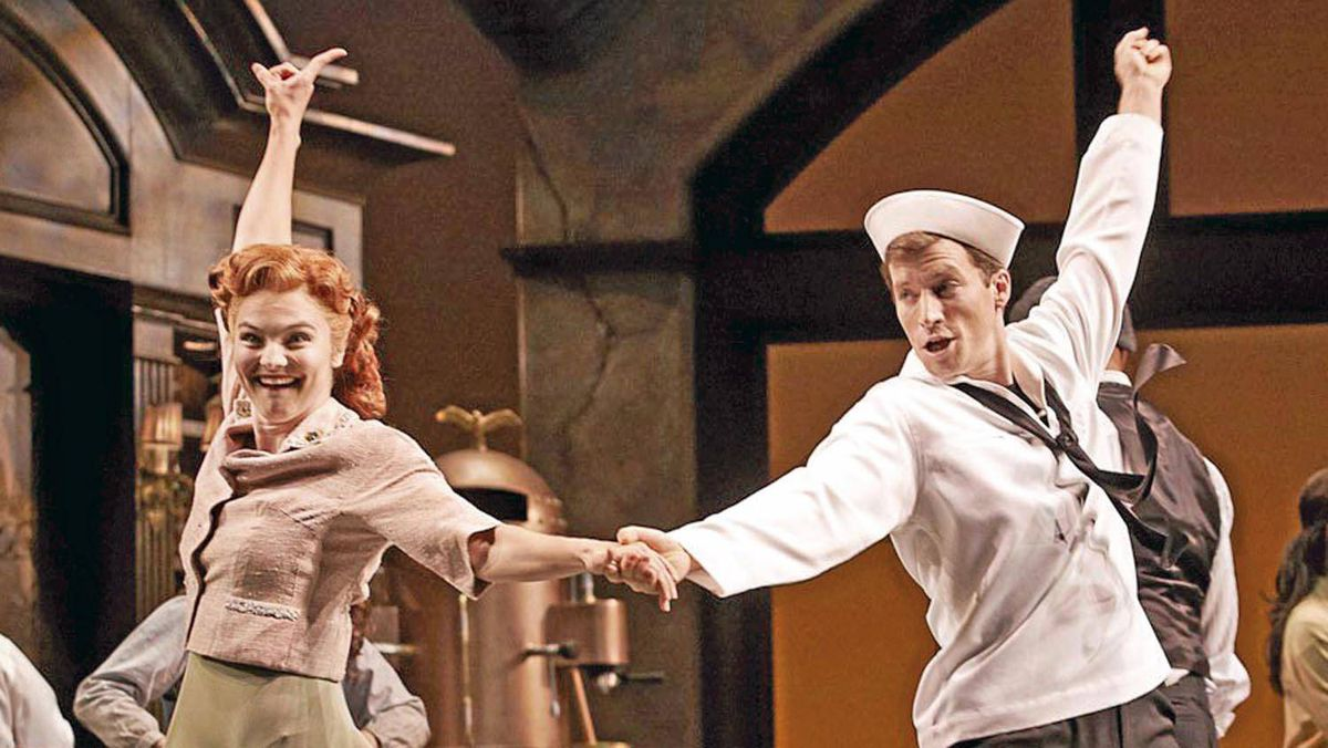 Sara Hogrefe and Kyle Schaefer in the Vancouver production of Tosca Cafe.