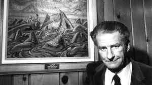 Robert McMichael at the McMichael Gallery in Kleinburg , Ont., in 1981.
