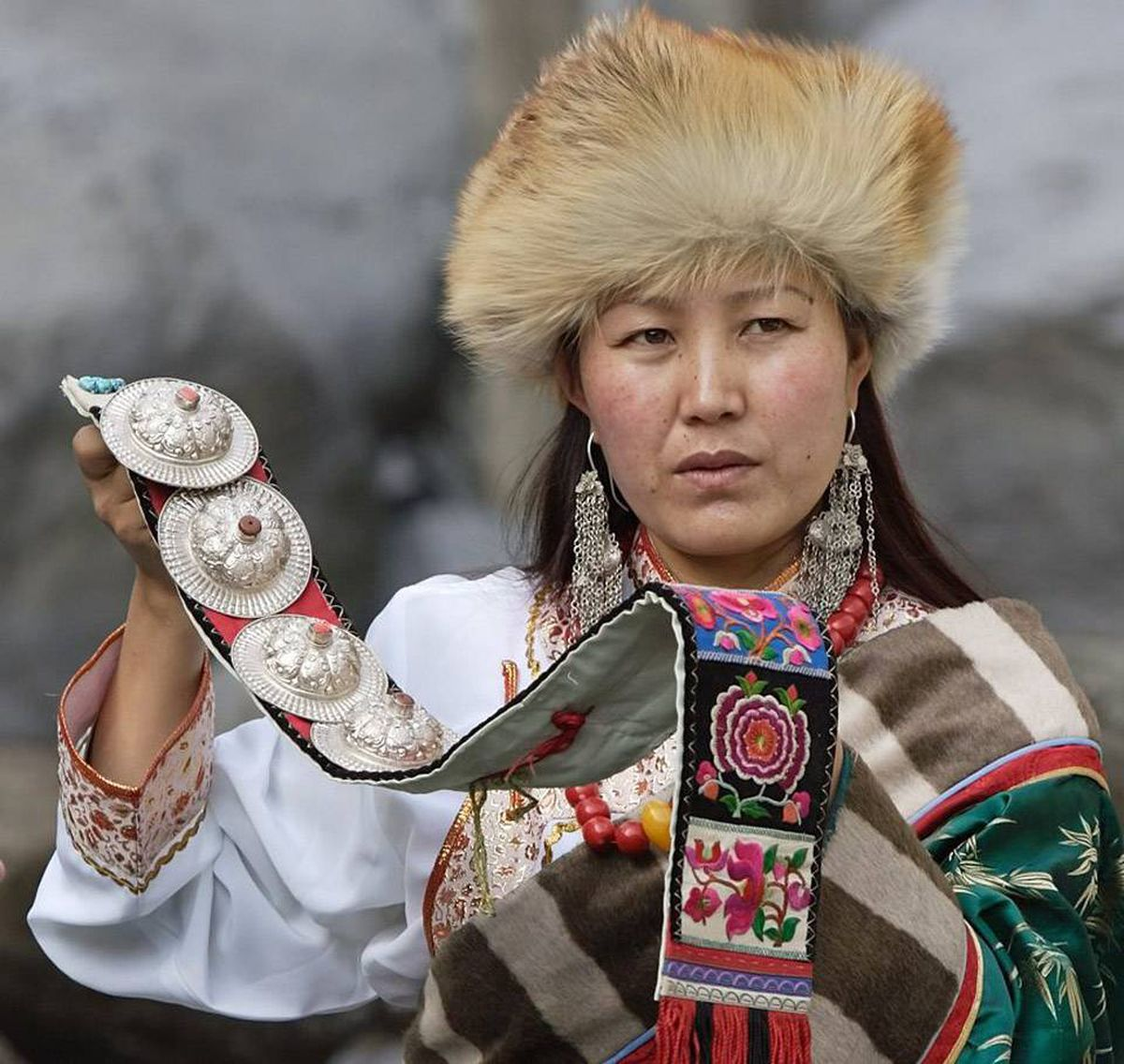 Tibetans once had songs for almost every activity. In Tibet in Song, Lhamo explains the costume her grandmother sent.
