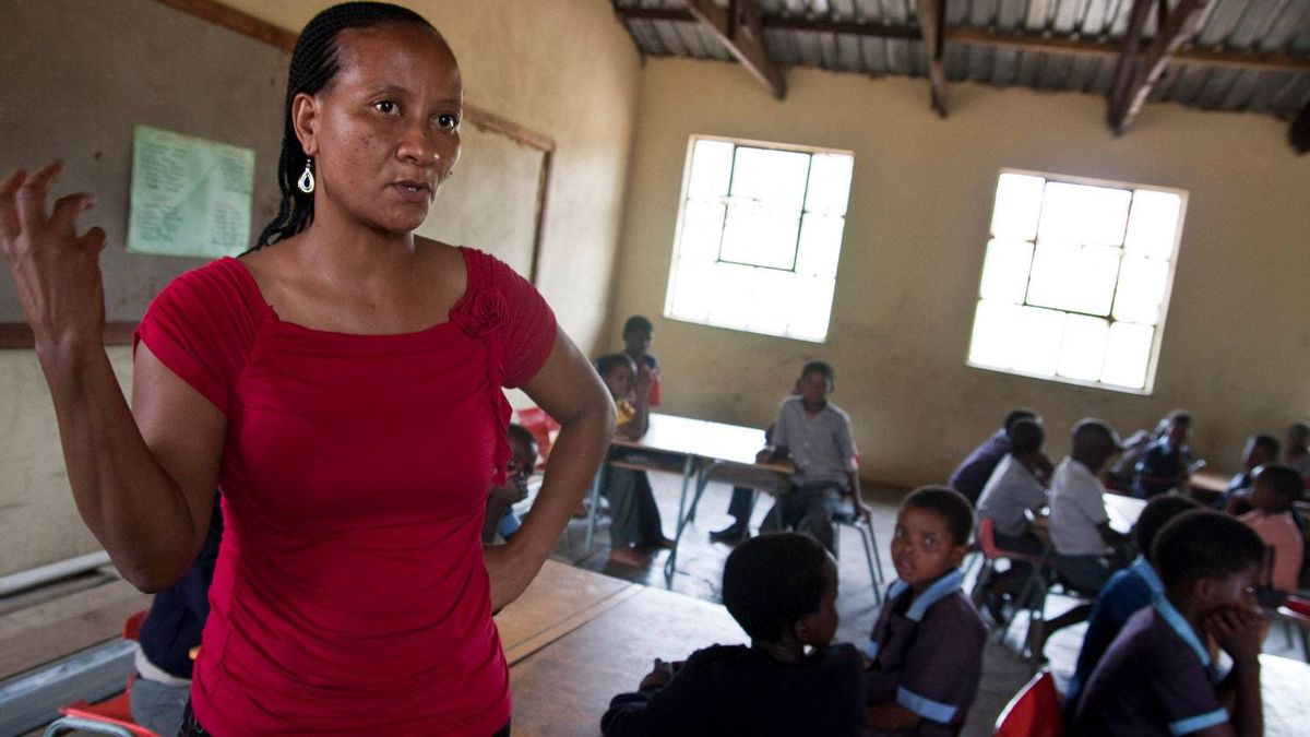 Simangele Mmema, principal of Kholwane primary school in rural Swaziland, had to close her school early for the year after it ran out of food and water, a result of the country's financial crisis.