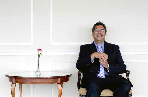 Calgary Mayor Naheed Nenshi attended a luncheon hosted by The Economic Club of Canada, in Toronto on Sept. 21, 2011.