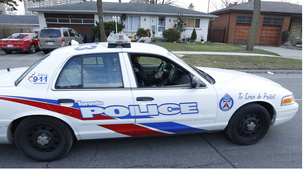 A Toronto Police officer in a supervisor's vehicle. Jan. 11, 2012