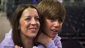 "Pattie Mallette and Justin Bieber in a scene from the film ""Justin Bieber: Never Say Never"""