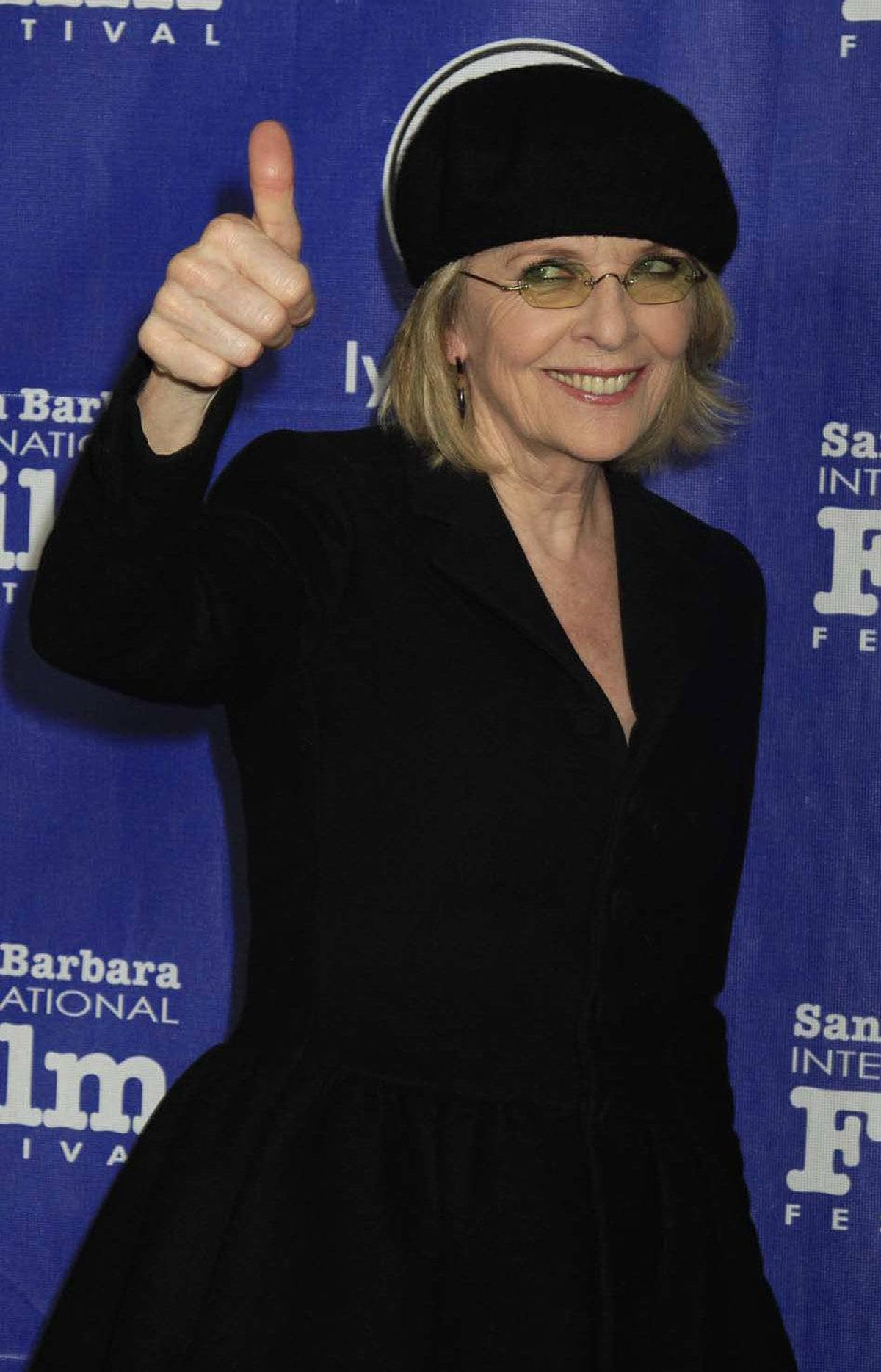 """I like that and I'm not even AT the SAG awards!"" says Diane Keaton at the premiere of the film ""Darling Companions"" in Santa Barbara, Calif., last week."