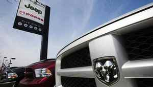 Trucks are seen at a Chrysler dealership in Toronto in this file photo.