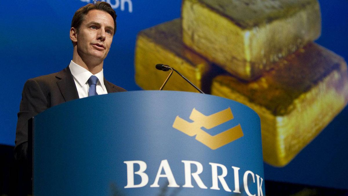 Aaron Regent, President and Chief Executive Officer of the Barrick Gold Corp., speaks at the company's annual general meeting in Toronto Wednesday, April 27, 2011.