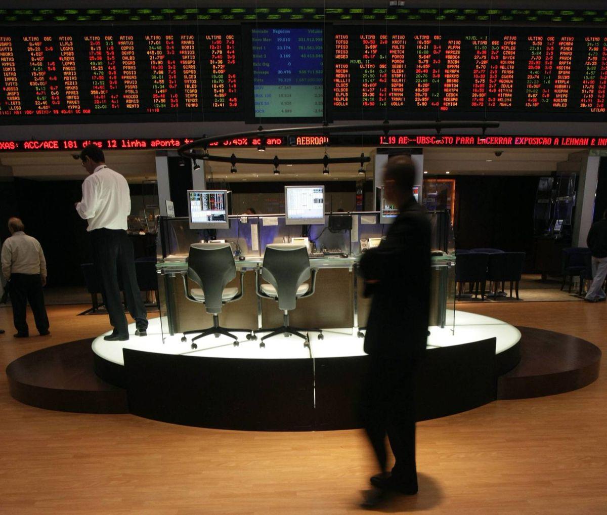 BOVESPA stock exchange in Sao Paulo
