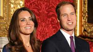 Britain's Prince William and his fianc?e Kate Middleton pose for photographers during a photocall to mark their engagement, in the State Rooms of St Jamess Palace, central London on November 16, 2010. Prince William will marry his girlfriend Kate Middleton next year, the royal family said Tuesday, in the biggest royal wedding in Britain since his parents Charles and Diana married in 1981. The announcement ended feverish speculation about when the second-in-line to the throne would wed, after a romance that has already lasted nearly eight years.
