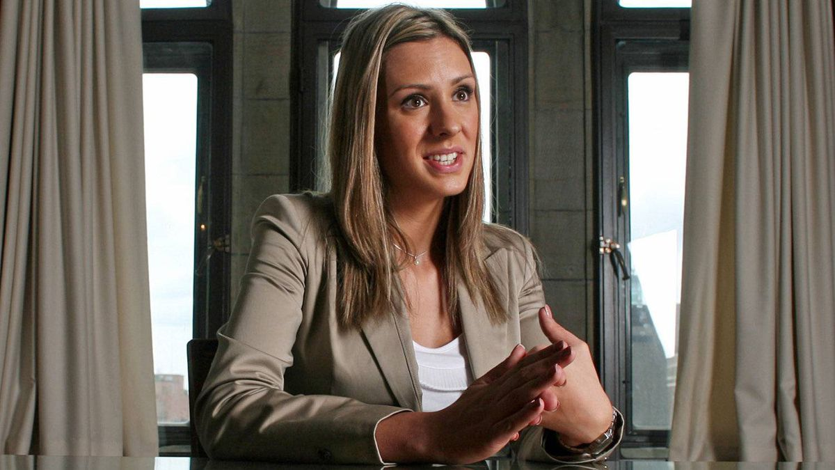 Rookie NDP MP Ruth Ellen Brosseau gives an interview on Parliament Hill on May 20, 2011.