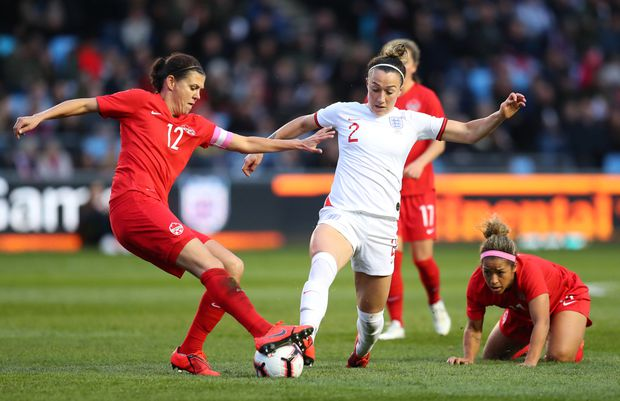 Christine Sinclair scores 180th international goal, securing 1-0 victory over England at Women's World Cup warmup
