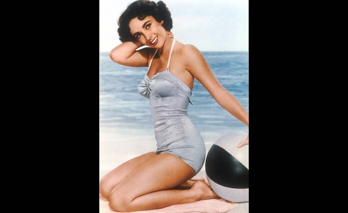 Elizabeth Taylor poses in this undated old film still circa the 1950s.