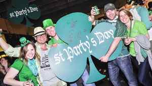 St. Party's Day celebrants at St. Lawrence Market in Toronto.