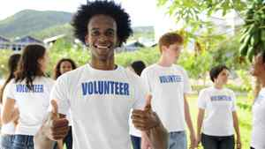 This is a person who is not trying to hide the fact that he is a charitable volunteer.