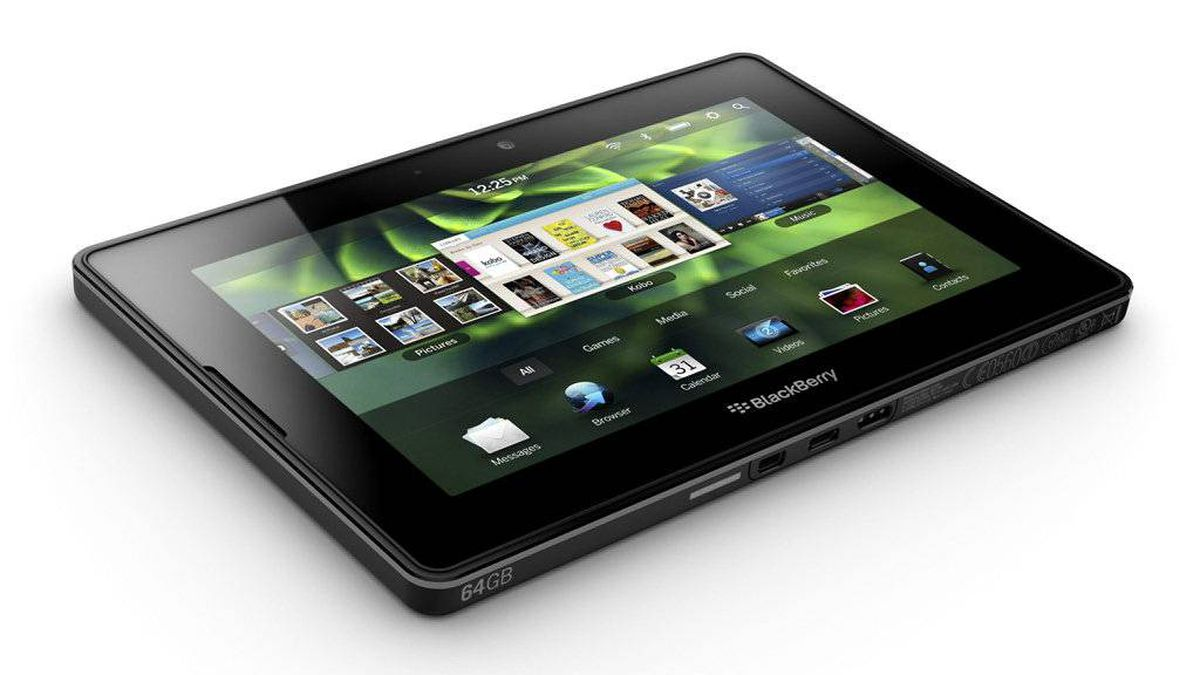 The upcoming BlackBerry PlayBook is shown in this photo made available on Tuesady March 22, 2011.