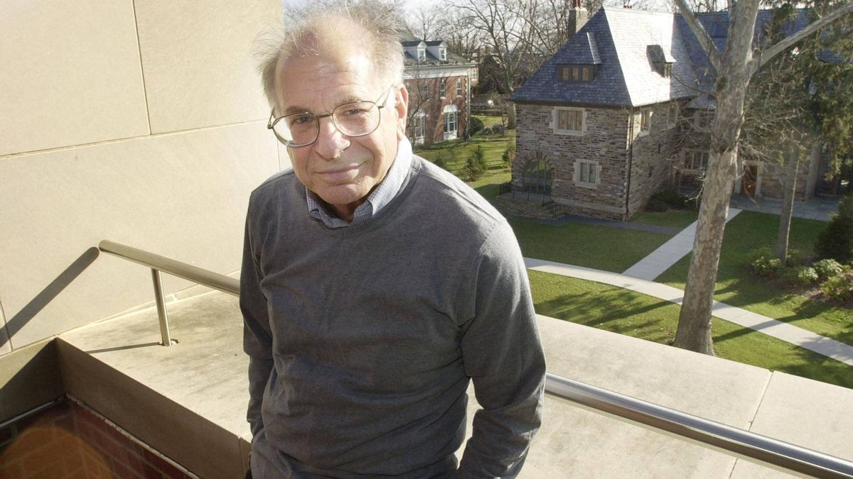 The new book by Nobel Laureate Daniel Kahneman, shown here at Princeton in 2002, is called Thinking, Fast and Slow.