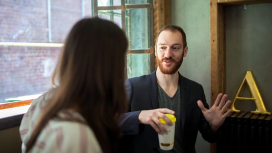 Networking skills brew over a cup of coffee