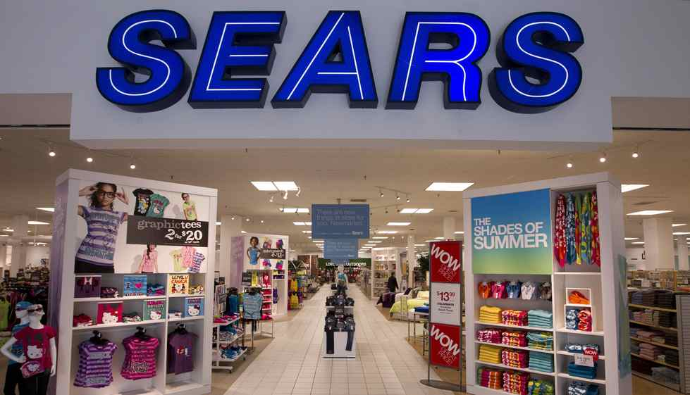 A Sears Canada store at Upper Canada Mall in Newmarket, Ont.