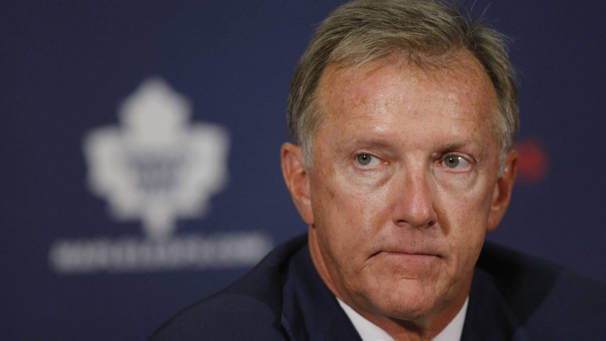 Head coach Ron Wilson of the Toronto Maple Leafs talks during a press conference after the NHL game against the Buffalo Sabres at the Air Canada Centre on September 26, 2008 in Toronto, Ontario, Canada.