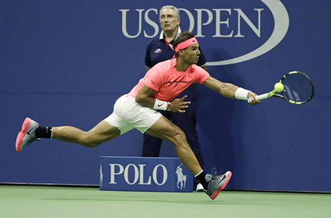 Rafael Nadal rocks neon pink shirt at US Open and Twitter swoons