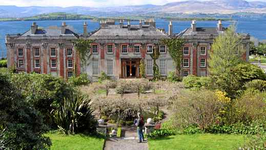 Bantry House on Ireland's west coast, open to the public since 1946, has a commanding view of the ocean and the Caha Mountains.