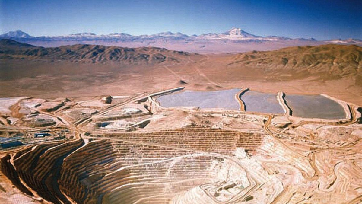 The BHP Billiton Escondida copper mine, 170 km (105 miles) southest of Antofagasta, Chile, is seen in this aerial handout photograph obtained February 10, 2010.