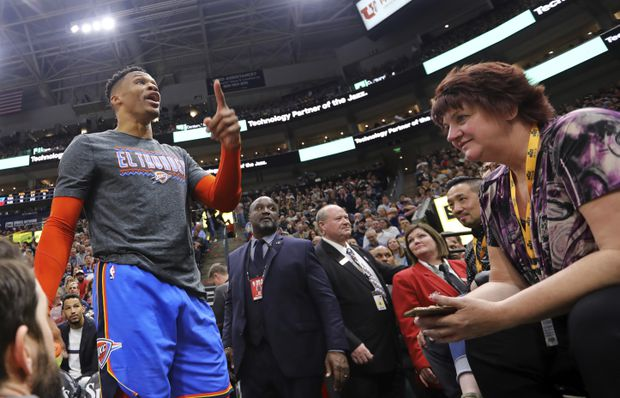 Russell Westbrook unleashes profanity-laden tirade at fan after being provoked