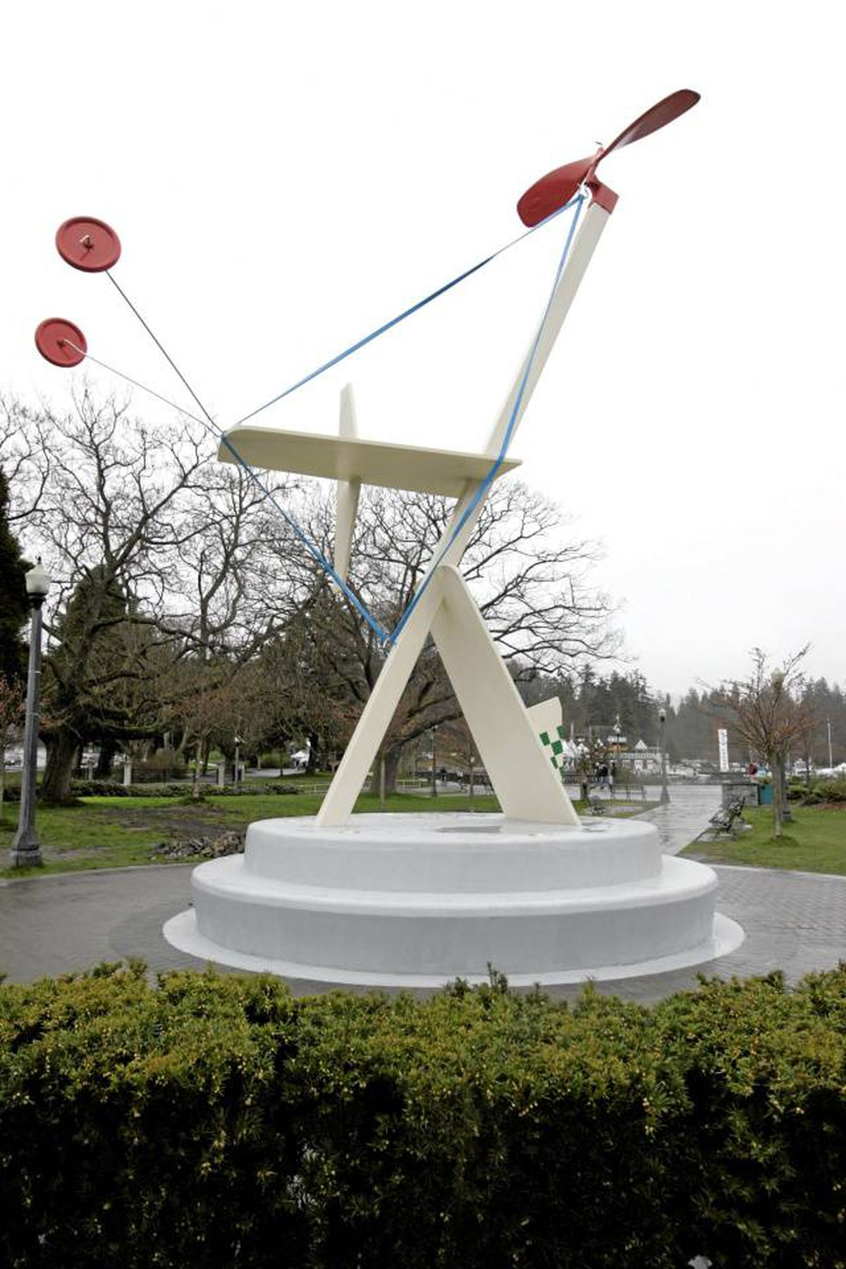 Rodney Graham's Aerodynamic Forms in Space, at the Georgia Street entrance to Vancouver's Stanley Park. Laura Leyshon for the Globe and Mail