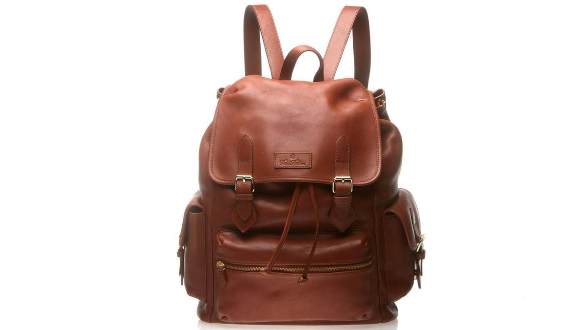 Brooks Brothers backpack $658 through www.brooksbrothers.com.