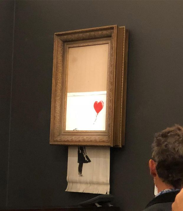 The price of a Banksy may have increased after painting self-destructs at auction