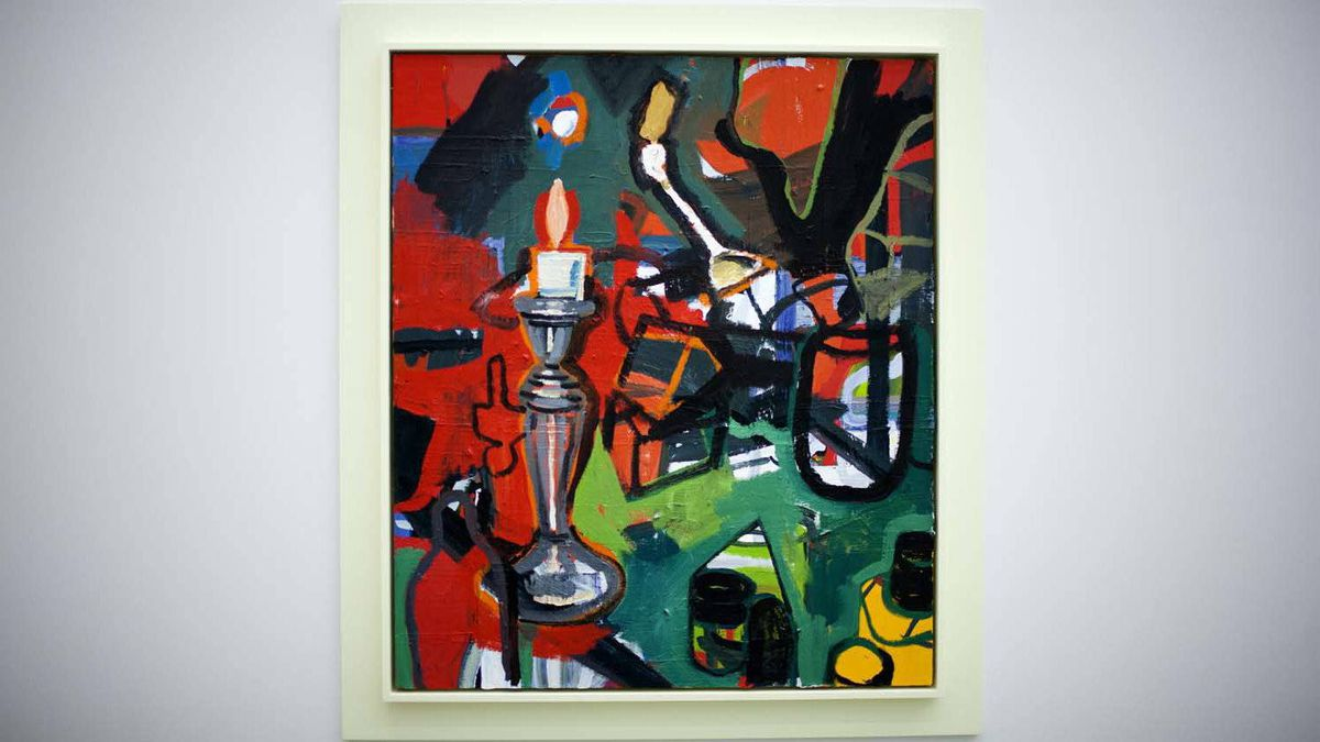 """A piece named """"Large red candle"""": Moppett's work unabashedly riffs off Rubens, Rodin, Picasso, Hollis Frampton, Carl Andre, and others."""