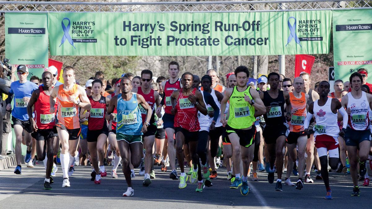 Runners take off from the starting line in Toronto's High Park for Harry's Spring Run-Off.