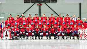 A Russian jet carrying local hockey team Lokomotiv Yaroslavl crashed Wednesday while taking off in western Russia, killing 36 people and leaving one critically injured, officials said.
