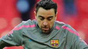 Barcelona's Spanish midfielder Xavi Hernandez practices during a training session on the eve of the UEFA Champions League final football match FC Barcelona vs. Manchester United, on May 27, 2011 at Wembley stadium in London. Getty Images/ FRANCK FIFE