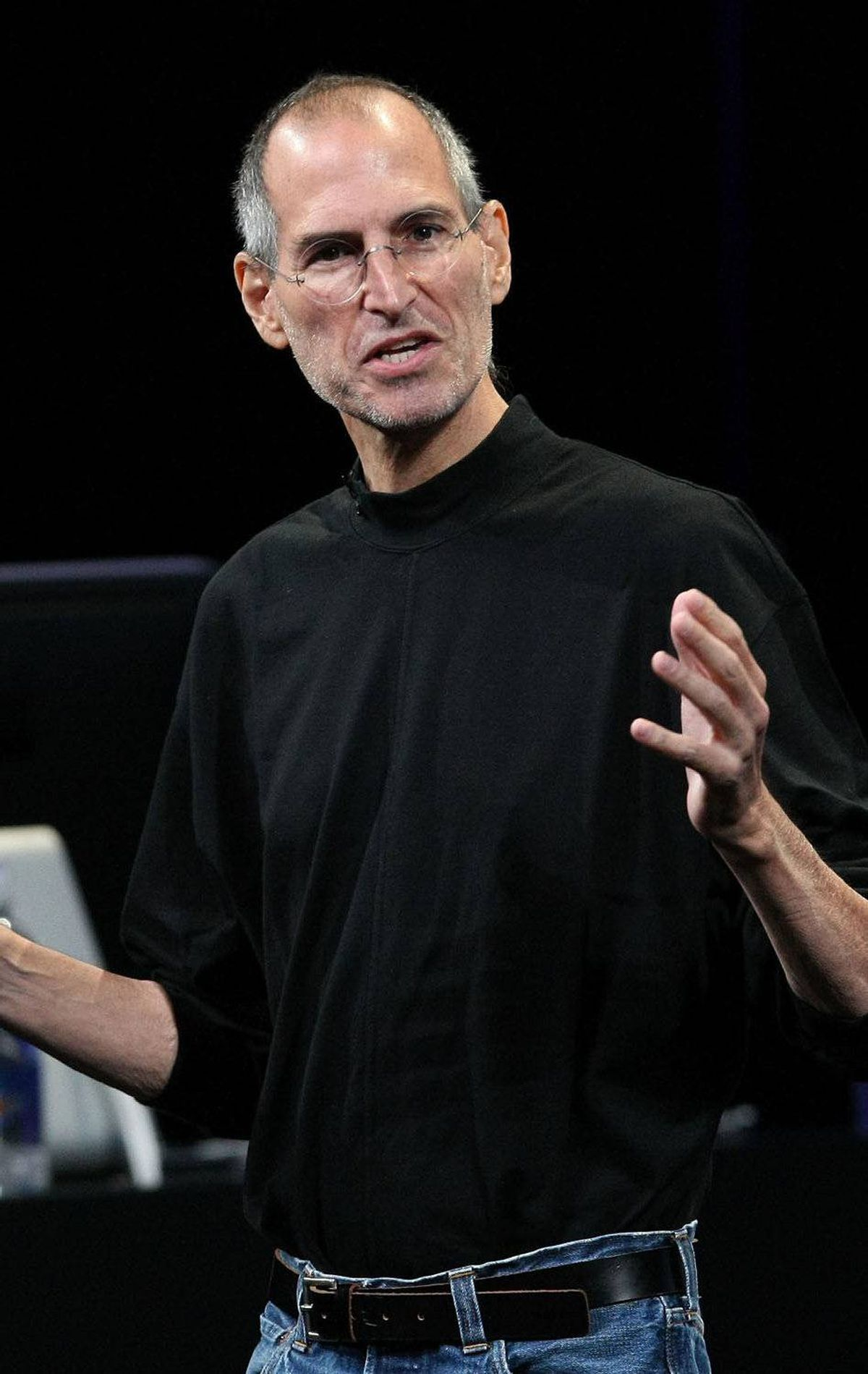 Mr. Jobs speaks during a special event Sept. 9, 2009 in San Francisco, California. Apple debuted iTunes 9 during the presentation.