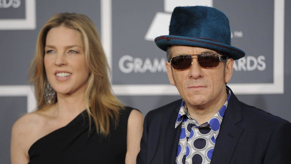 Elvis Costello and Diana Krall arrive.