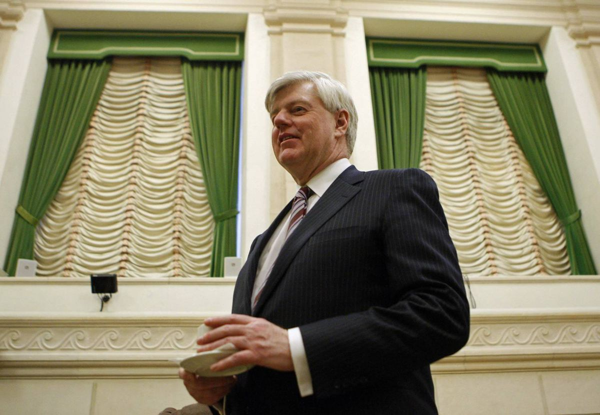 John Manley waits to testify before the foreign affairs committee on Parliament Hill in Ottawa on March 11, 2008.